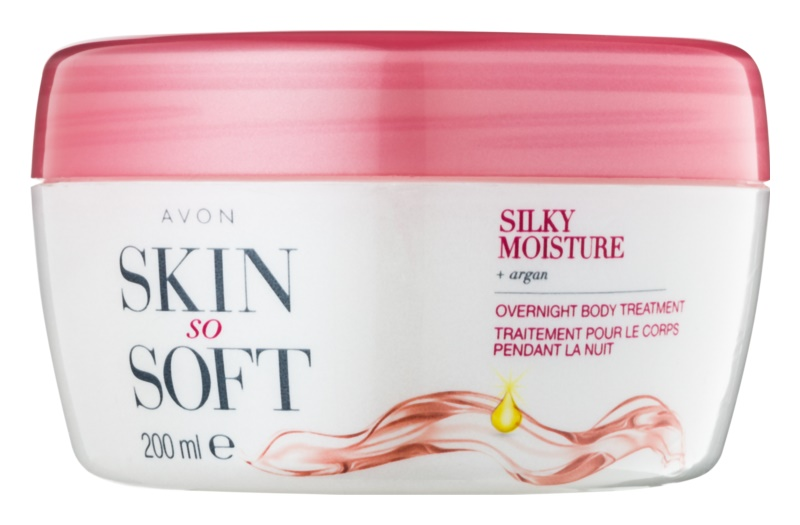 Avon Skin So Soft Silky Moisture нічний крем для тіла