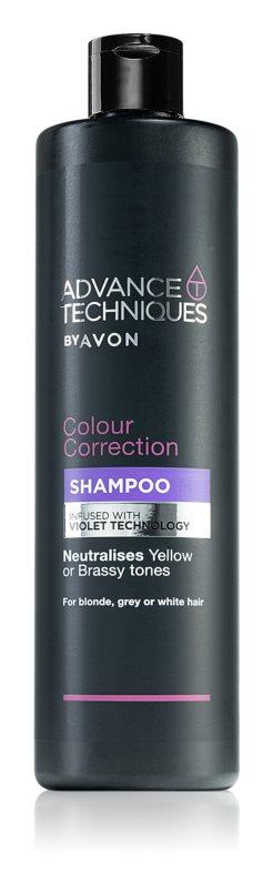 Avon Advance Techniques Colour Correction fialový šampón pre blond a melírované vlasy