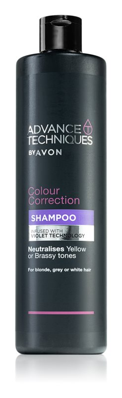 Avon Advance Techniques Colour Correction vijoličen šampon za blond lase in lase s prameni