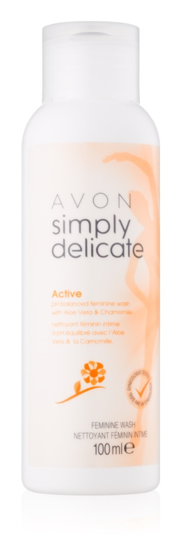 Avon Simply Delicate gel pro intimní hygienu s aloe vera a heřmánkem