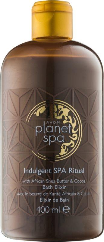 Avon Planet Spa Indulgent SPA Ritual spuma pentru spalat cu unt de Shea si ciocolata