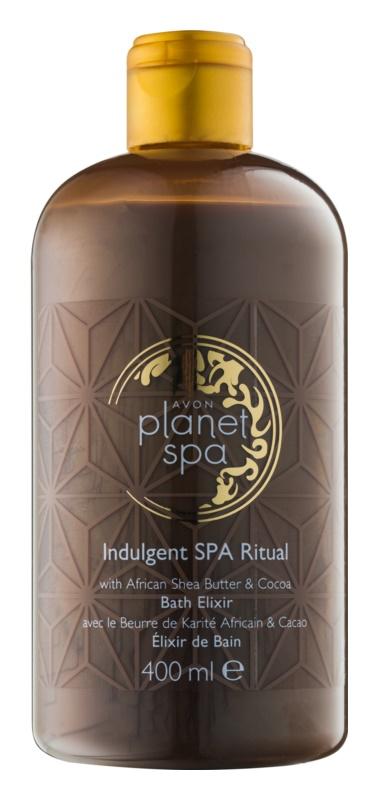 Avon Planet Spa Indulgent SPA Ritual umývacia pena s bambuckým maslom a čokoládou