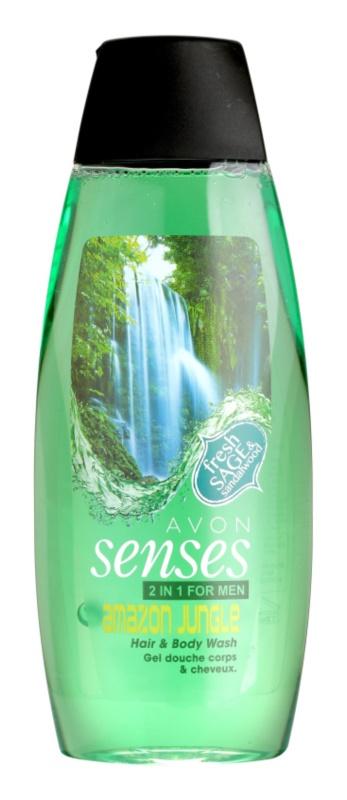 Avon Senses Amazon Jungle champú y gel de ducha 2 en 1 para hombre
