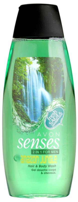 Avon Senses Amazon Jungle gel de dus si sampon 2in1 pentru barbati