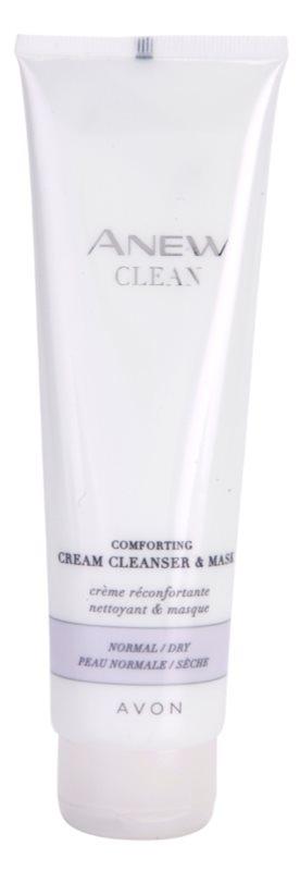 Avon Anew Clean masque et gel purifiant et apaisant en crème pour peaux normales et sèches