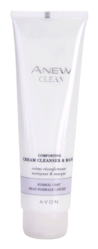 Avon Anew Clean nyugtató krémes tisztító gél és maszk normál és száraz bőrre