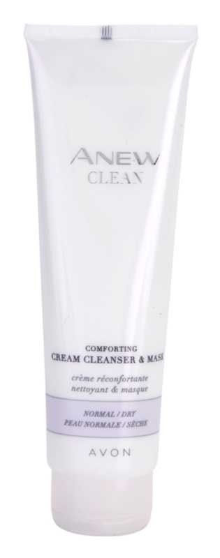 Avon Anew Clean Soothing Cleansing Gel and Cream Mask For Normal And Dry Skin