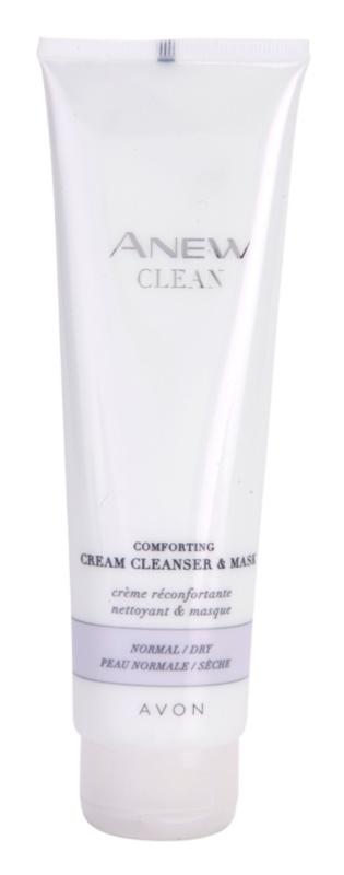 Avon Anew Clean zklidňující krémový čisticí gel a maska pro normální a suchou pleť