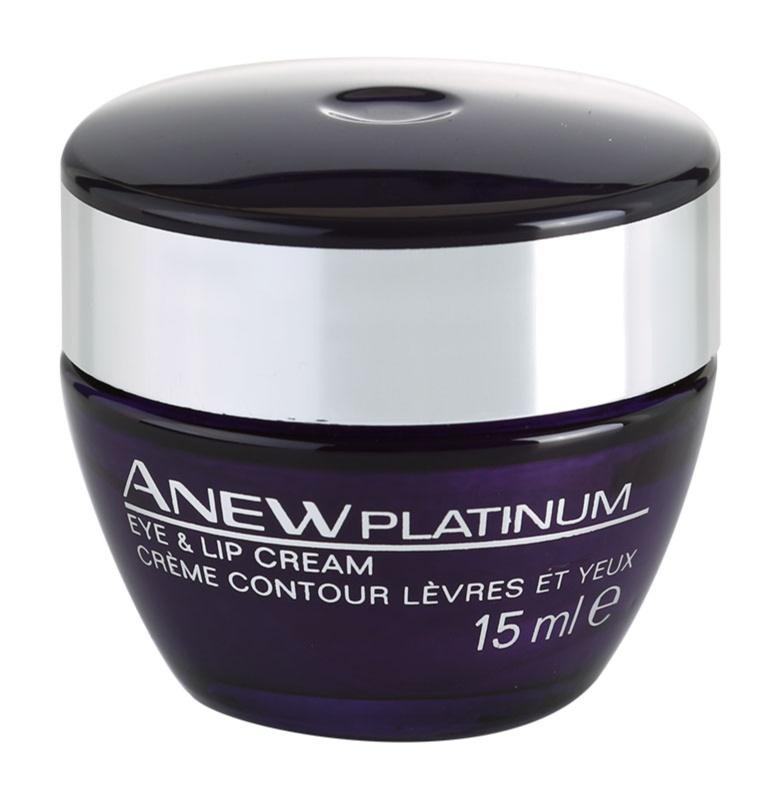 Avon Anew Platinum creme para contornos dos olhos e lábios