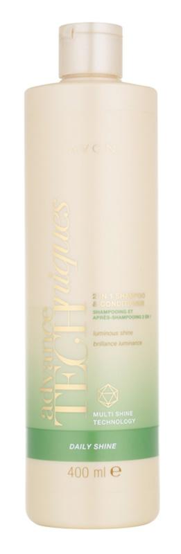Avon Advance Techniques Daily Shine šampón a kondicionér 2 v1 pre všetky typy vlasov