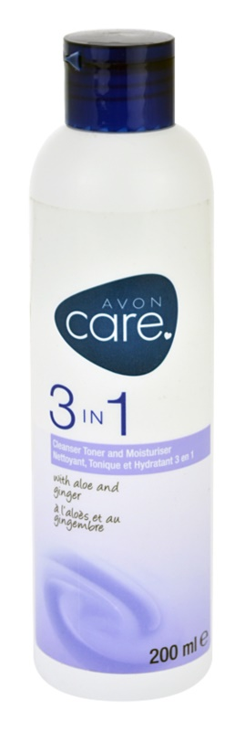 Avon Care čistiaci pleťový gél 3 v 1 s výťažkami z aloe a zázvoru