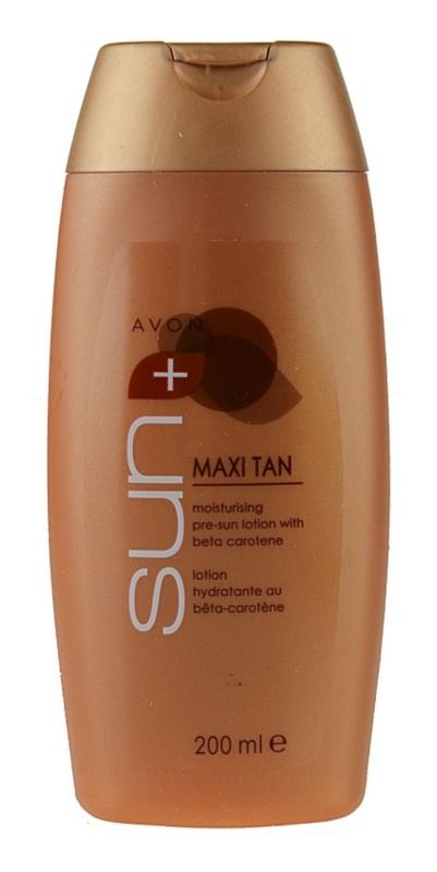 Avon Sun Self Tan tónovací hydratační mléko s betakarotenem