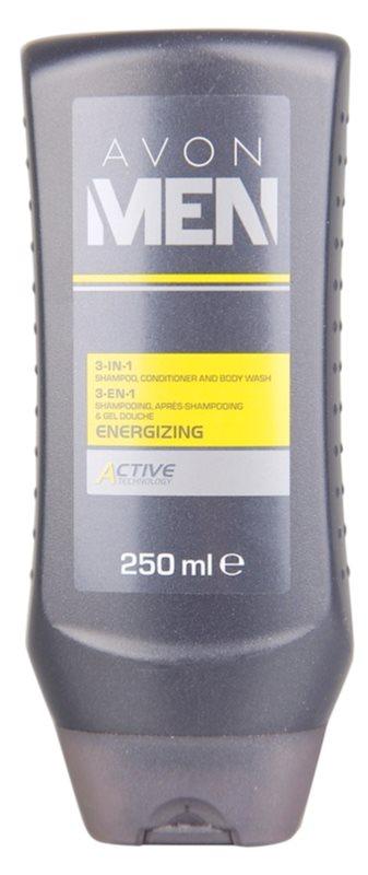 Avon Men Energizing sprchový gel na tělo a vlasy