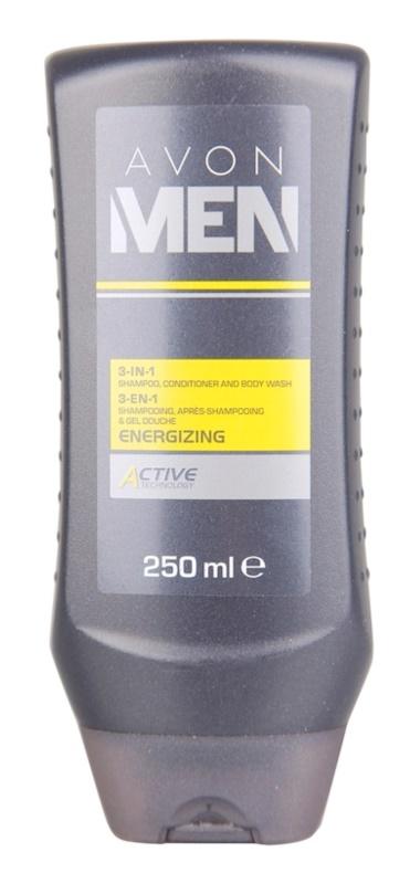 Avon Men Energizing tusfürdő gél testre és hajra