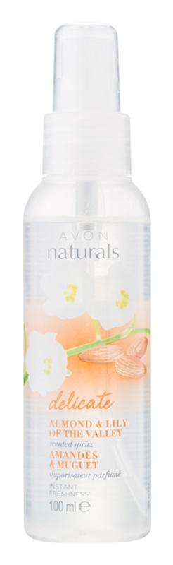 Avon Naturals Body spray de corporal com amêndoas e lírio do vale