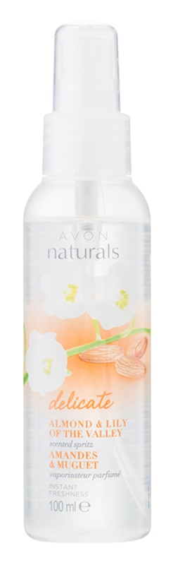 Avon Naturals Body спрей за тяло с бадеми и момина сълза