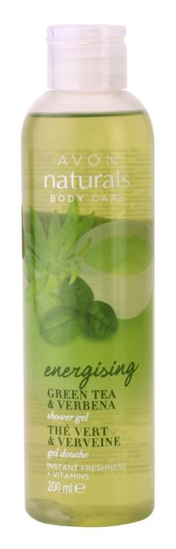 Avon Naturals Body élénkítő tusfürdő gél zöld teával és verbénával