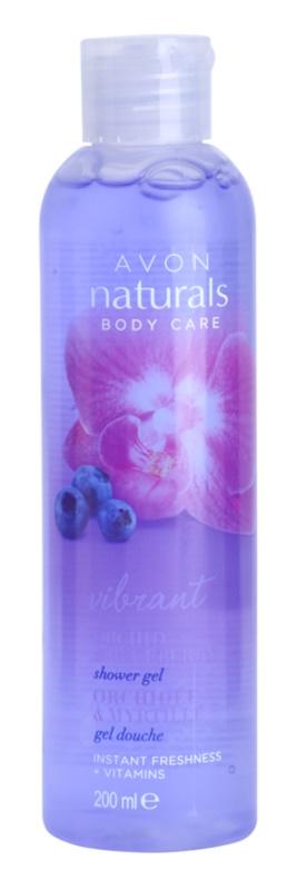 Avon Naturals Body gel de douche à l'orchidée et myrtille