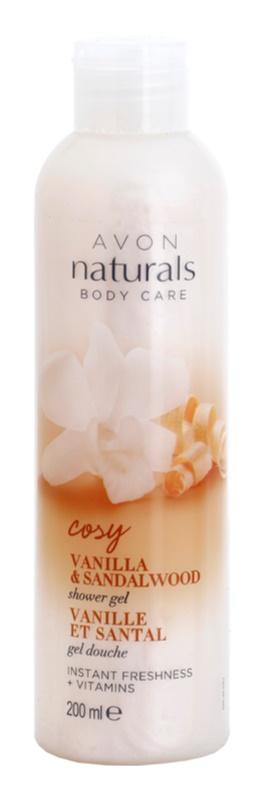 Avon Naturals Body gel de banho refrescante com baunilha e sândalo