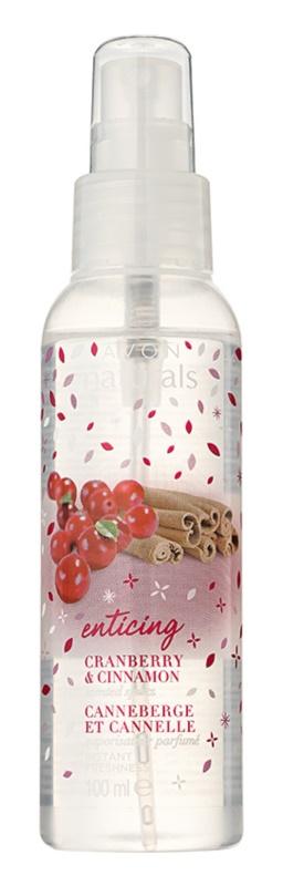 Avon Naturals Fragrance tělový sprej s brusinkou a skořicí