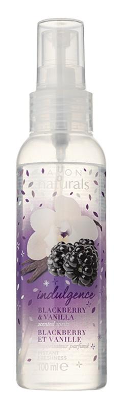 Avon Naturals Fragrance telový sprej s černicou a vanilkou
