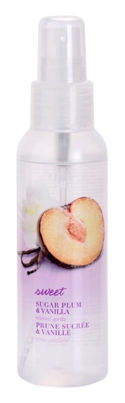 Avon Naturals Fragrance spray corporal com ameixa e baunilha