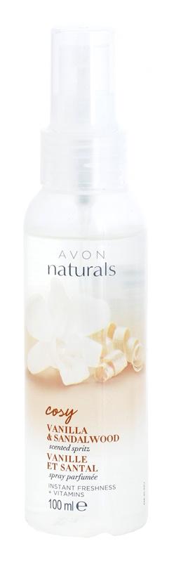 Avon Naturals Fragrance erfrischendes Körperspray mit Vanille und Sandelholz