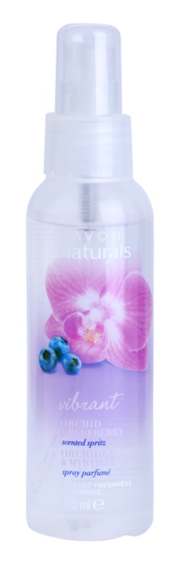 Avon Naturals Fragrance spray corporal com orquídea e mirtilo