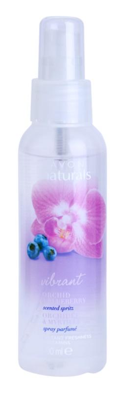 Avon Naturals Fragrance spray corporal com orquídea e mirtilo