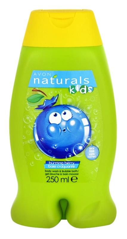 Avon Naturals Kids espuma de banho e gel de duche 2 em 1 para crianças