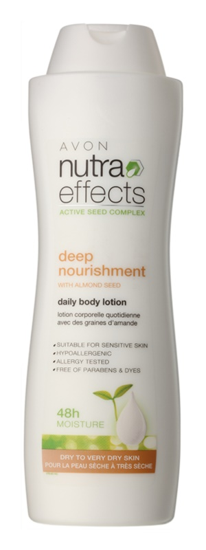 Avon Nutra Effects Nourish leite corporal hidratante para pele seca a muito seca