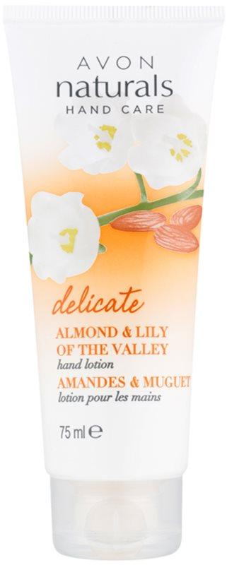 Avon Naturals Hand Care leche para manos de textura suave con almendra y lirio del valle