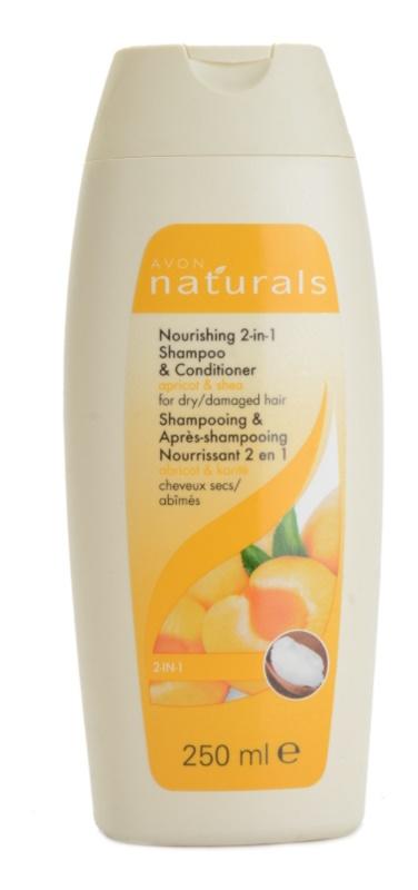 Avon Naturals Hair Care shampoing nourrissant et après-shampoing pour chevex secs et abîmés