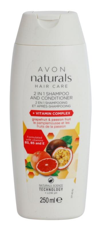Avon Naturals Hair Care shampoing et après-shampoing 2 en 1