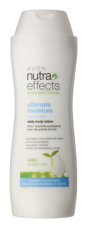 Avon Nutra Effects hidratáló testápoló tej normál és száraz bőrre