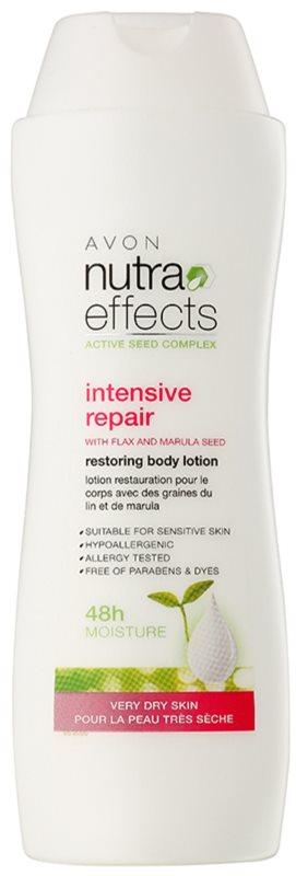 Avon Nutra Effects leche corporal renovadora para pieles muy secas