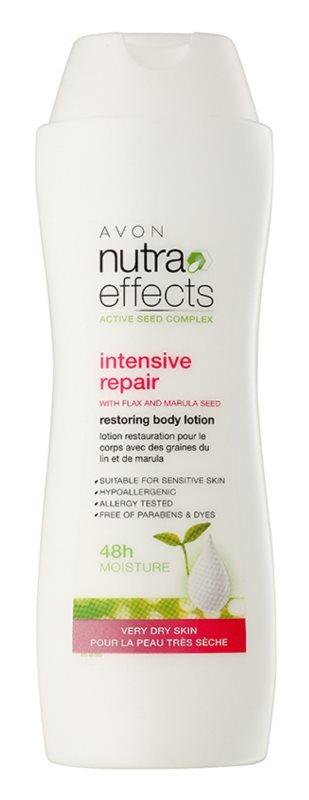 Avon Nutra Effects leite corporal renovador para pele muito seca