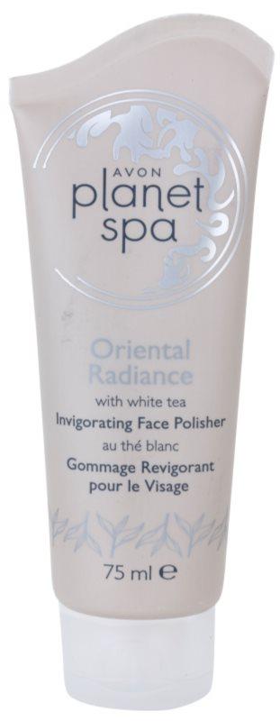 Avon Planet Spa Oriental Radiance освіжаючий пілінг для шкіри обличчя з білим чаєм