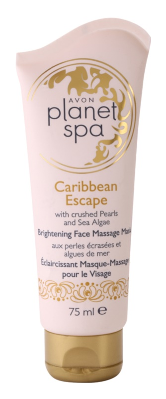 Avon Planet Spa Caribbean Escape maschera illuminante per massaggi del viso con estratti di perle e alghe marine