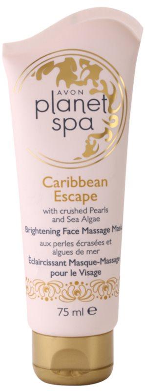 Avon Planet Spa Caribbean Escape Massage-Gesichtsmaske für strahlende Haut mit Auszügen aus Perlen und Meersalgen