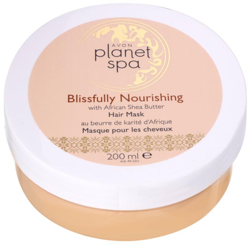 Avon Planet Spa African Shea Butter maschera per tutti i tipi di capelli
