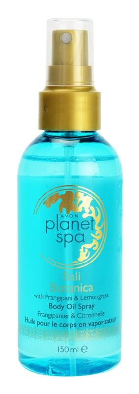 Avon Planet Spa Bali Botanica telový olej v spreji s kvetmi frangipani a citronóvou trávou