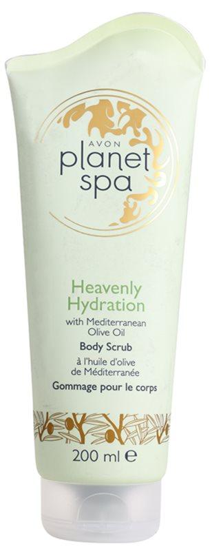 Avon Planet Spa Heavenly Hydration exfoliante corporal hidratante con aceite de oliva