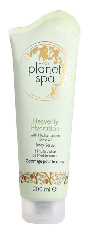 Avon Planet Spa Heavenly Hydration hydratační tělový peeling s olivovým olejem