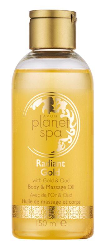 Avon Planet Spa Radiant Gold aufhellendes Körper - und Massageöl mit Glitzerpartikeln