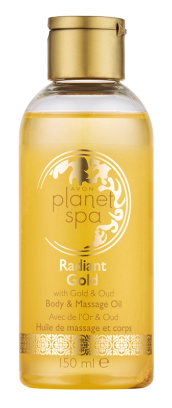 Avon Planet Spa Radiant Gold huile brillante illuminatrice massage et corps