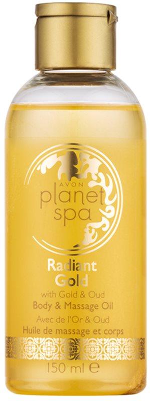 Avon Planet Spa Radiant Gold rozjasňující třpytivý tělový a masážní olej