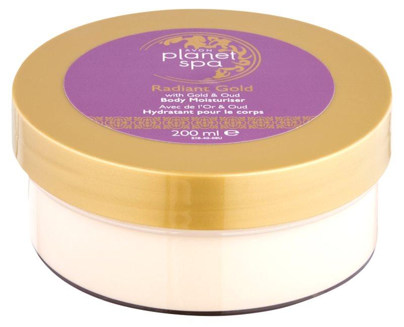 Avon Planet Spa Radiant Gold telový krém pre rozjasnenie a hydratáciu