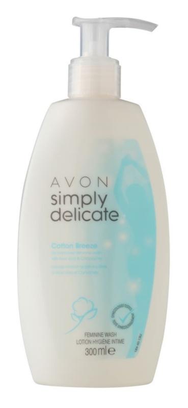Avon Simply Delicate gel de douche pour la toilette intime