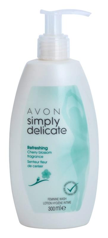 Avon Simply Delicate gel para higiene íntima com aroma de flor de cerejeira